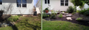 before and after landscaping job