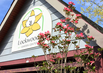 sign for Lockwood's Garden Center in Hamburg