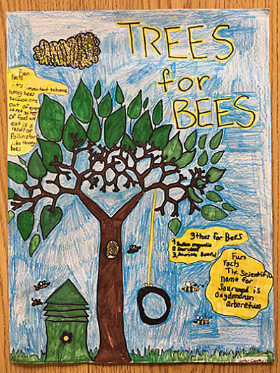 Arbor Day poster by student in Grand Island