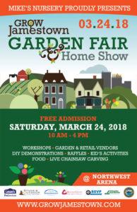 Grow Jamestown Garden Fair poster 2018