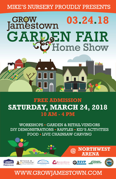 Grow Jamestown Garden Fair poster 2018