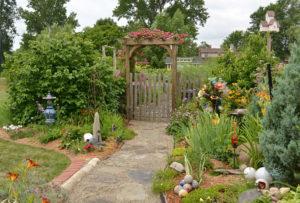 path to lovely vegetable garden in Lancaster