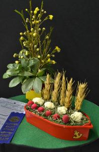 flower show in Western New York boat