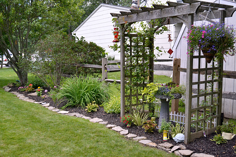 garden along fence in Grand Island
