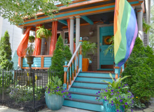 front porch on Garden Walk Buffalo