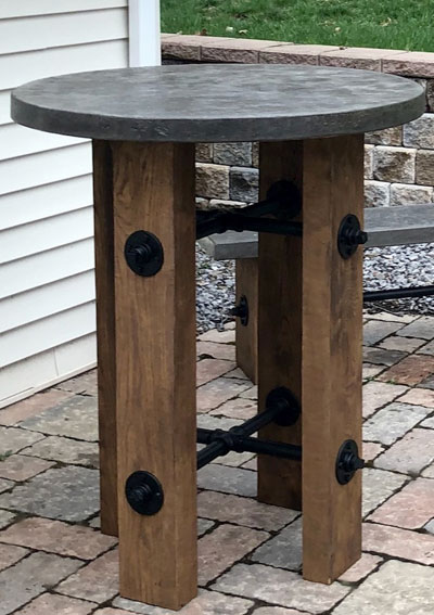 Concrete Pub Table Esigned By Ac Architectural