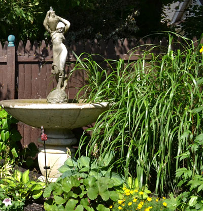 fountain in backyard on Garden Walk Buffalo