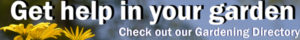 banner ad for Gardening Directory