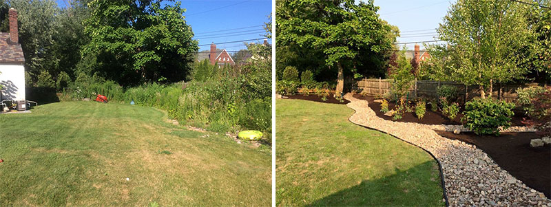 before and after from Busy Beaver Landscaping