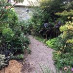 stone walkway in garden in Albion NY
