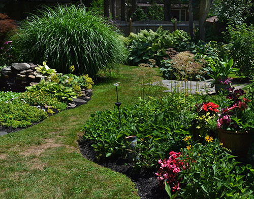 curvy garden beds in Hamburg NY
