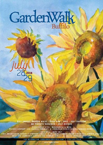 Garden Walk Buffalo poster 2018