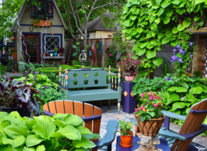 Jim Charlier garden and shed in Buffalo