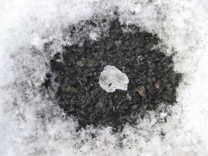 rock salt melting snow