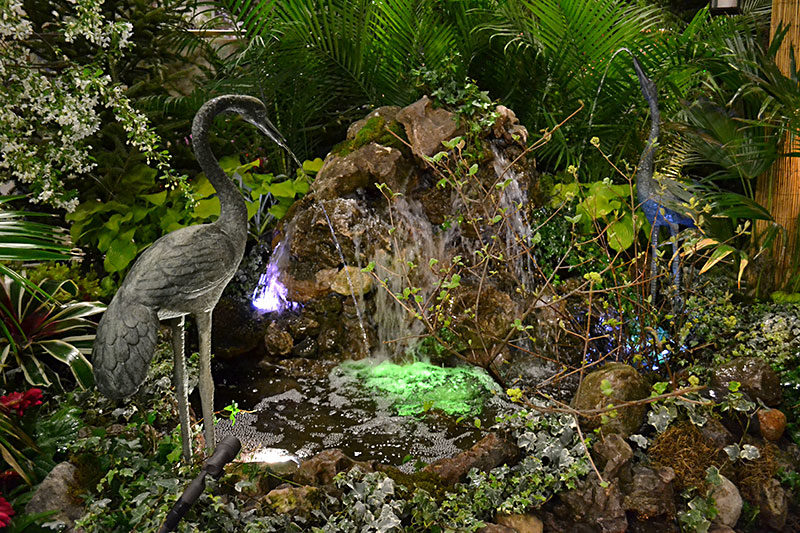 Water feature at Plantasia 2019 by The Cutting Edge