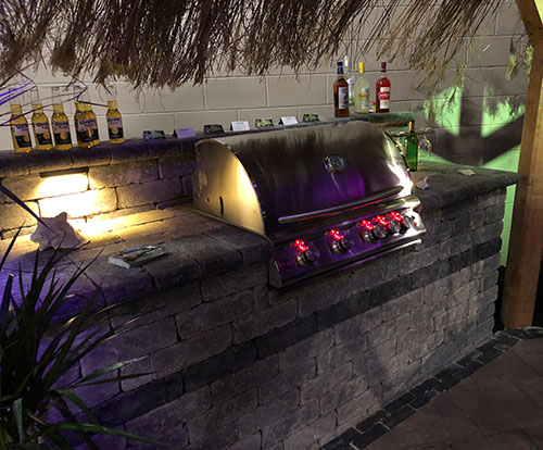built-in grill by Tripi's at Plantasia