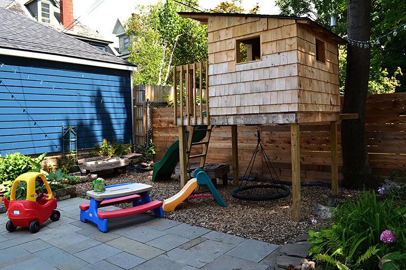 play area in small Buffalo yard