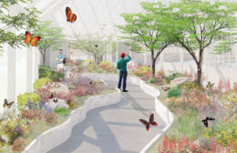 proposed butterfly conservatory at Buffalo and Erie County Botanical Gardens