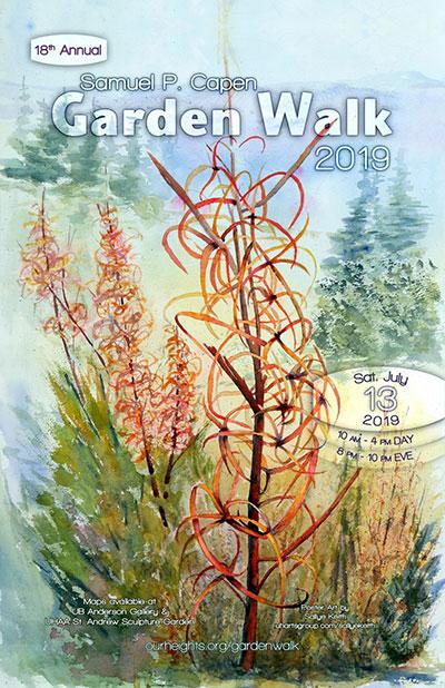 poster for Capen Garden Walk 2019