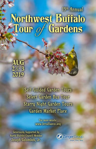 poster for Northwest Tour of Gardens 2019