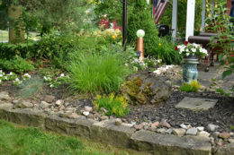 wall of local stone in Lockport NY