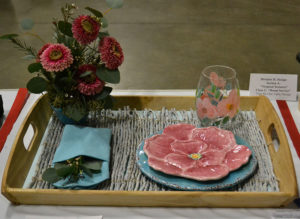 place setting in flower show Plantasia 2019