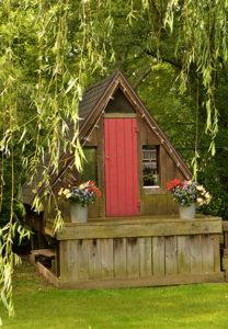 playhouse in backyard in Hamburg, New York