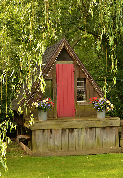 playhouse in backyard in Hamburg, New York