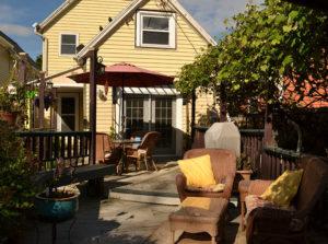 back deck on Open Gardens