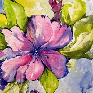 watercolor of flower by Judith Kosinski