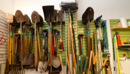 gardening tools in The Tool Library in Buffalo