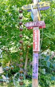 quirky garden signs