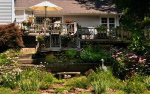 gardens beneath deck