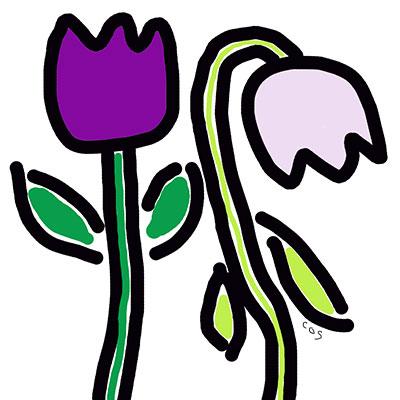 happy flower, sad flower