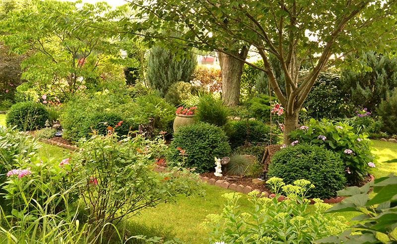 formal garden bed in Western New York